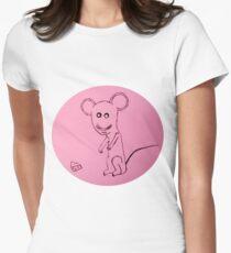 Mouse - Souris - Martin Boisvert T-shirt col V femme