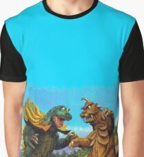 Horny Monster Fight Graphic T-Shirt