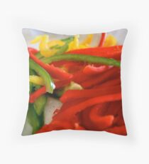 :::peppers::: Throw Pillow