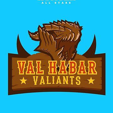 Monster Hunter All Stars - Val Habar Valiants by bleachedink