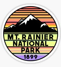 Mount Rainier National Park Washington Sticker