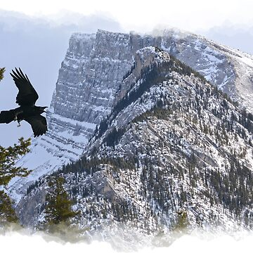 Mt Rundle & Raven (Canadian Rockies) by RavenPrints