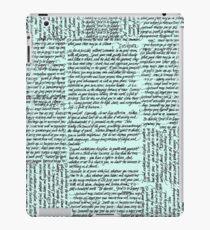 Desiderata handwritten iPad Case/Skin