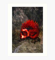 Red Masque Art Print