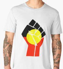 Raised Fist - Aboriginal Flag Men's Premium T-Shirt