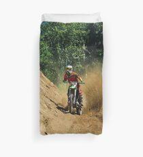 Dirty Tricks (Dirt Bike Racing) Duvet Cover