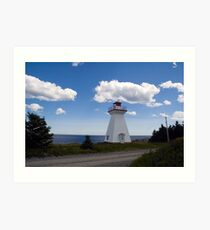 Lighthouse by the sea Art Print