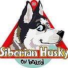 Husky On Board - Black & White by DoggyGraphics