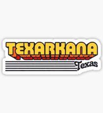 Texarkana, Texas   Retro Stripes Sticker