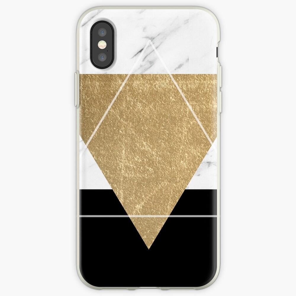Goldener Marmor Deko geometrisch iPhone-Hülle & Cover