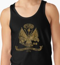 Vintage US Golden Army Coat of Arms Men's Tank Top