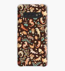 Autumn geckos in dark brown Case/Skin for Samsung Galaxy