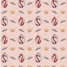 Royal Pink Flamingo Pattern in Pink von Sturm Design