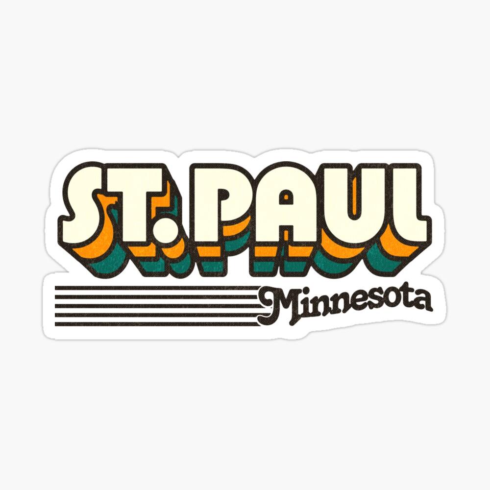 St. Paul, Minnesota | Retro Stripes Sticker