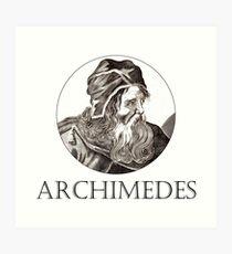 Great Minds in der Wissenschaft - Archimedes Kunstdruck