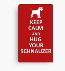 Keep calm and hug your schnauzer Leinwanddruck