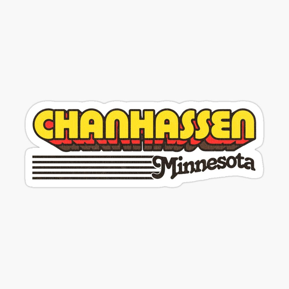 Chanhassen, Minnesota | Retro Stripes Sticker