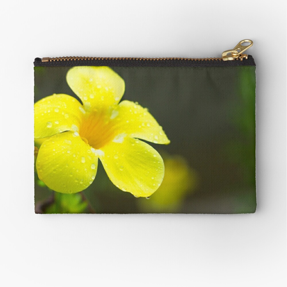 Yellow flower Zipper Pouch