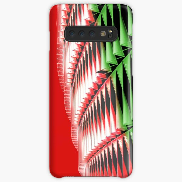 Red green white abstract structure Samsung Galaxy Snap Case