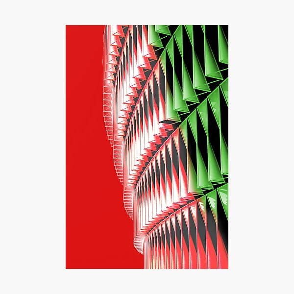 Red green white abstract structure Photographic Print