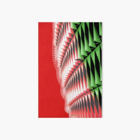 Red green white abstract structure Art Board Print