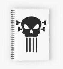 Bass guitar and skull Spiral Notebook