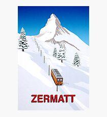 Lámina fotográfica Zermatt