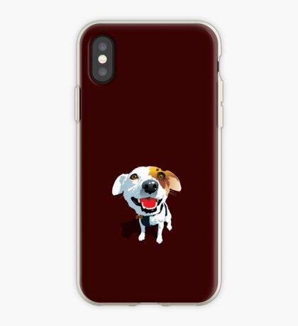 Crazy Eyes Fox Terrier Puppy iPhone Case