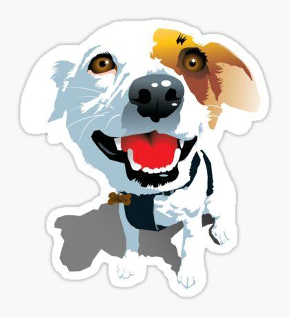 Crazy Eyes Fox Terrier Puppy Sticker