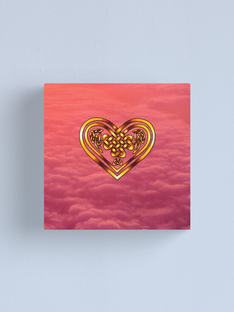 Alternate view of Celtic Heart - Pink Clouds Canvas Print