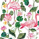 Summer Pink Flamingos by texashandmade