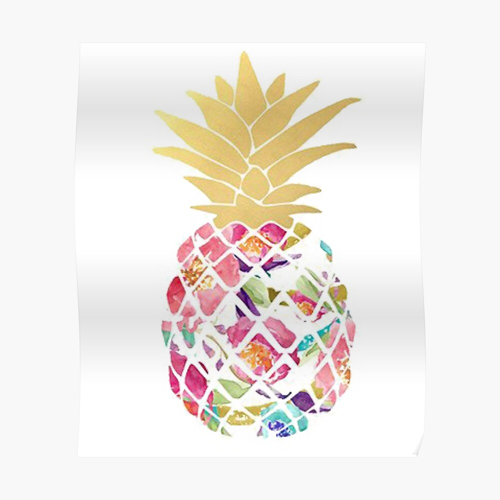 Colorful pastel pineapple Poster