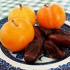 A Fruity Breakfast - Dates and Plums by Kathryn Jones