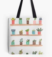 Cactus and plants Tote Bag