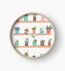 Cactus and plants Clock