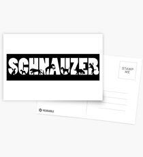 Schnauzer Postkarten