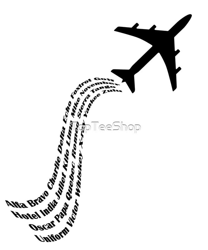 Phonetic Alphabet Aviation T-Shirt Airplane Flight Pilot