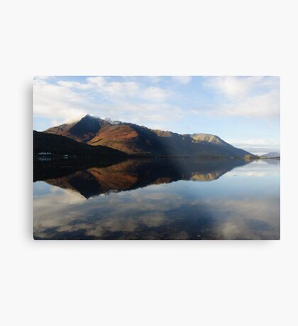 Loch Leven Reflections Metal Print