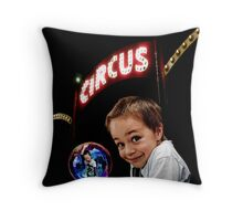 Circus Boy Throw Pillow