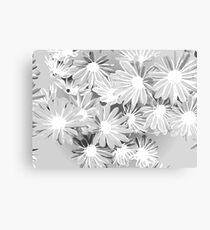 Gray Watercolor Flowers Metal Print