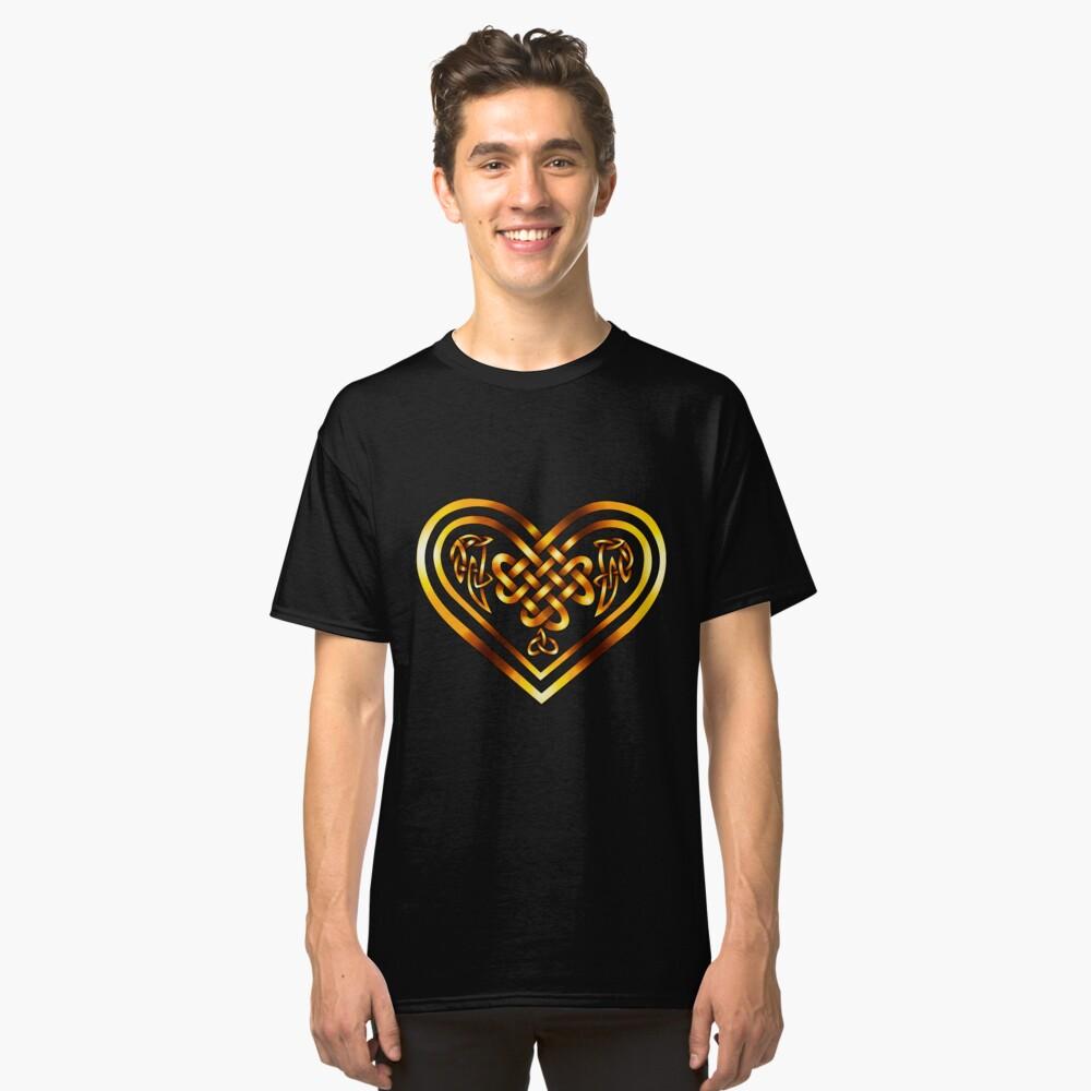 Celtic Heart - Gold on Black Classic T-Shirt