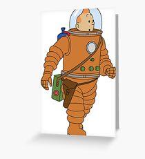 Tintin Astronaut / 327009 Greeting Card