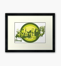 Stroudy Town Architecture Art Framed Print