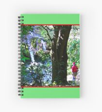 Moutain Pool and Waterfalls Spiral Notebook