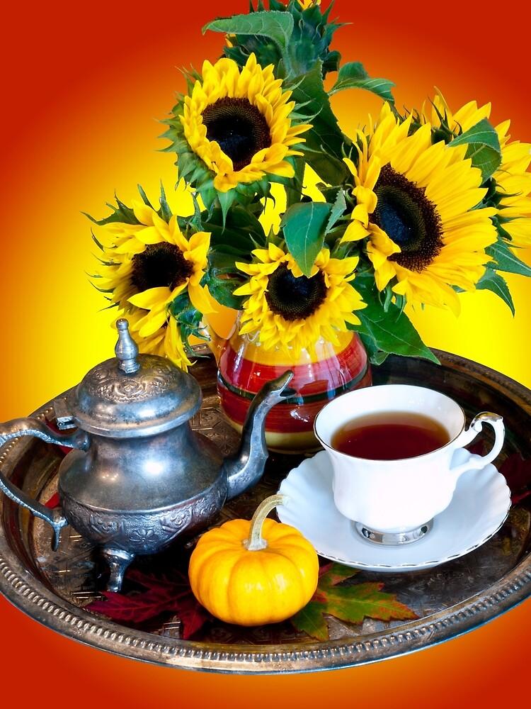 Autumn Tea Service by Rae Tucker
