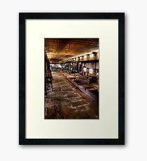 Floor Squares Framed Print