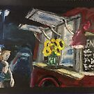 Two Girls Visit the Night Time Food Truck by Pamela Spiro Wagner