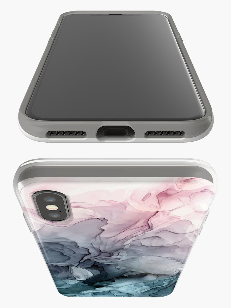 Alternate view of Blush and Payne's Grey Flowing Abstract Painting iPhone Cases & Covers