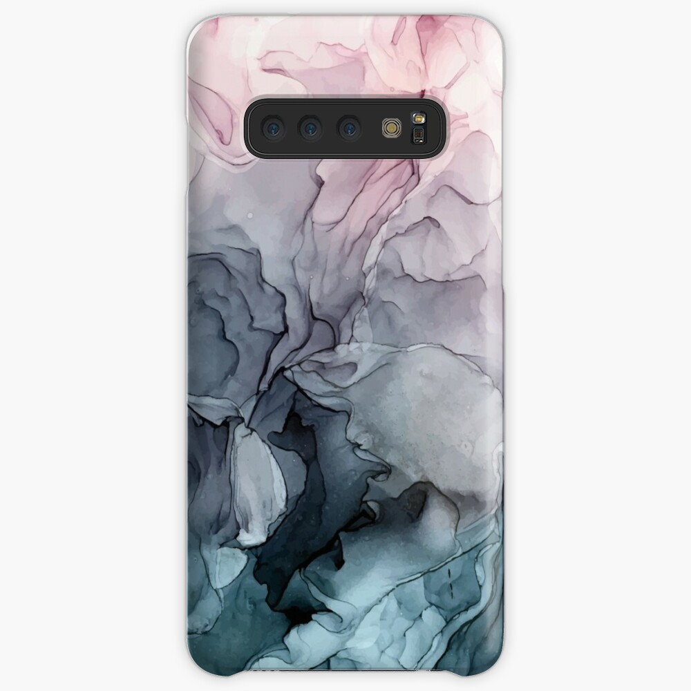 Blush and Payne's Grey Flowing Abstract Painting Cases & Skins for Samsung Galaxy