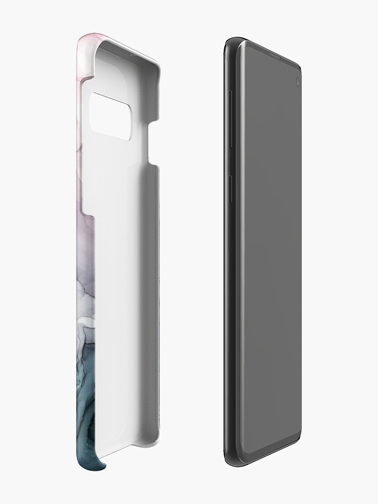 Alternate view of Blush and Payne's Grey Flowing Abstract Painting Case & Skin for Samsung Galaxy